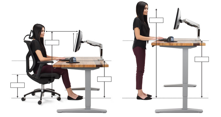 Sitting or standing at your desk properly is essential to prevent back pain and improve posture