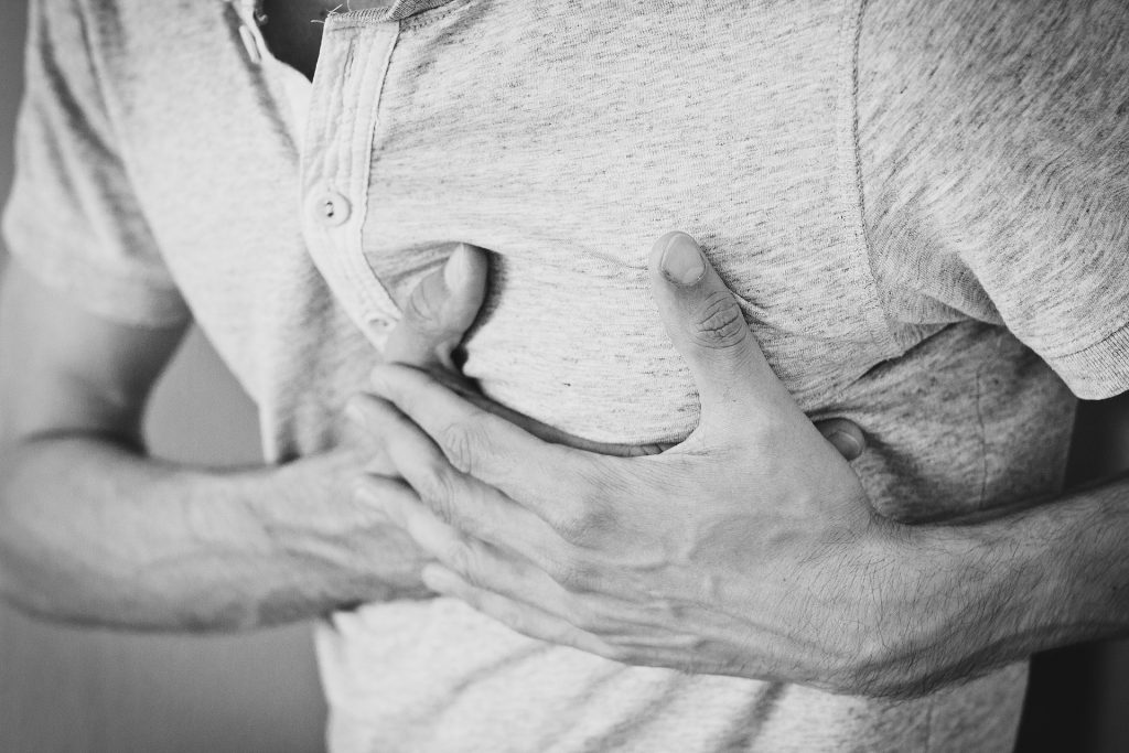 Stress can cause physical pain on the body, including chest pains.