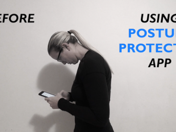 Posture Protector App User Before & After